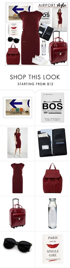 """""""Airport Style"""" by outfitsloveyou ❤ liked on Polyvore featuring Forever 21, Royce Leather, Dorothy Perkins, Mansur Gavriel, McKleinUSA, Kate Spade and ECCO"""
