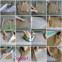 Fusing plastic bags into fabric---One of these days I'm going to get around to doing this project.