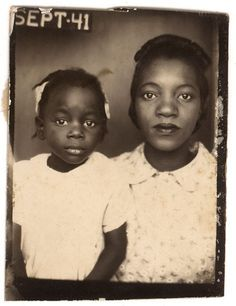 +~ Vintage Photo Booth Picture ~+  Mother and Daughter