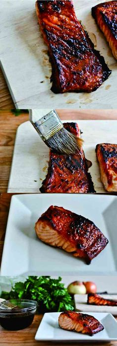 black pepper, healthy, honey, recipes, salmon, seafood