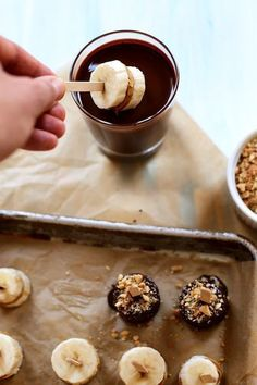 Frozen Peanut Butter Banana Pops   8 Make-Ahead Breakfasts for Busy Mornings   http://www.hercampus.com/health/food/8-make-ahead-breakfasts-busy-mornings