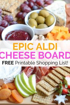 Charcuterie Recipes, Charcuterie And Cheese Board, Charcuterie Platter, Cheese Boards, Appetizers For Party, Appetizer Recipes, Aldi Cheese, Aldi Recipes, Budget Recipes