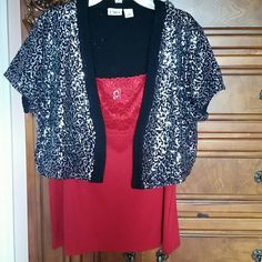 Shiny top Very cute top to your glamorous looks. I wore it only ones on Christmas Party and had many compliments. In excellent . cato Tops Camisoles