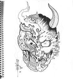 Japanese Tatoo, Japanese Tattoo Designs, Flash Sketch, Left Arm Tattoos, Matching Tats, Hanya Tattoo, Egypt Tattoo, Paradise Tattoo, Asian Tattoos