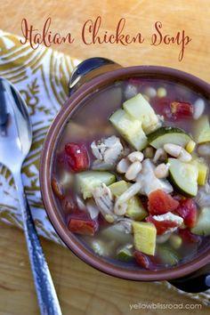 So delicious Italian Chicken Soup