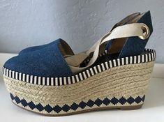 b15e8c5d100 Tory Burch Dandy Denim Espadrille Wedge ( 375)  fashion  clothing  shoes