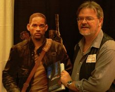 Will Smith declining the signed copy; I had a few Jack Daniels and insisted until Joe Konrath pointed out that Will was cardboard....hehehehe...