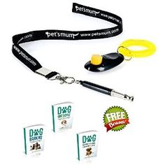 Pet's Mum Dog Whistle to stop barking with free pet training clicker and 3 ebooks. Great training tools for dogs, cats and pets. Order now on amazon.com