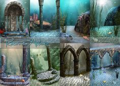 Return to Atlantis Backgrounds by lorelea at Anarchy-Cat • Sims 4 Updates