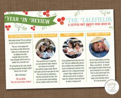Custom christmas card with photos Year in review by laceyfields