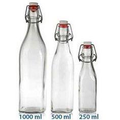 10 Clear 1000 ml SWING TOP...