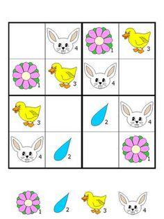 okul öncesi çocukları için sudoku oyunu