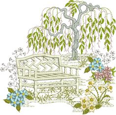 Garden Embroidery Designs blossoming garden 4 embroidery kit tamar nahir yanai Sue Box Creations Download Embroidery Designs 02 Garden Scene B
