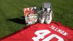 A pair of signed cleats alleged to have been worn in a 2000 NFL game by the late Arizona Cardinals LB Pat Tillman are selling on EBay for 3.2 million.