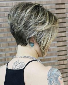 Inverted bob with short nape