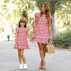 Mother kids Mom and daughter dress striped mother daughter dresses Short sleeve Girl big sister family look matching clothes-in Matching Family Outfits from Mother & Kids Mother Daughter Dresses Matching, Matching Family Outfits, Matching Clothes, Mother Daughter Fashion, Mom Daughter, Fashion Kids, Beach Fashion, Mommy And Me Outfits, Kids Outfits
