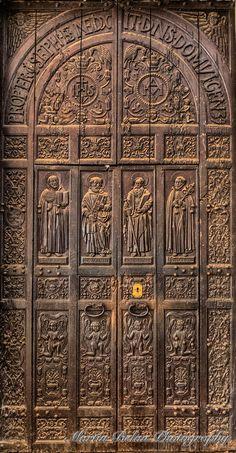 Church Door, Basilica of Bom Jesus, Goa India