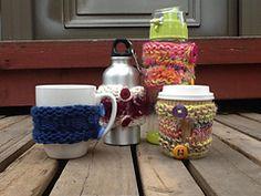Ravelry: Loom knit Cup Cozie pattern by Christina Fasoula