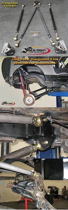 GenRight Off Road Rear 4 Link Suspension Kits - Pirate4x4.Com : 4x4 and Off-Road Forum
