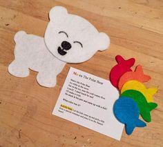 Marco the Polar Bear - cute flannel! Flannel Board Stories, Felt Board Stories, Felt Stories, Flannel Boards, Bears Preschool, Preschool Songs, Preschool Activities, Preschool Winter, Winter Activities