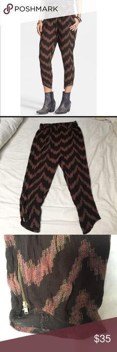Free People Chevron Harem Pants In perfect condition. Very comfortable. Open to offers. Free People Pants