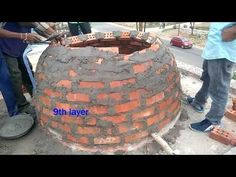 Construction of Brick Dome Wood Fired Oven, Wood Fired Pizza, Bread Oven, Brick Architecture, Brickwork, Brick Wall, Garden Art, Firewood, Home Improvement