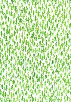 paint a whole wall p-a-r-a-p-h-e-r-n-a-l-i-a: art—freak: Forest pattern (by Lu Green)