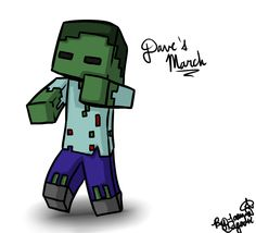 Zombie Minecraft Drawing Minecraft Drawing Dave The