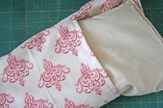Rice Bag Warmer with Slip Cover tutorial