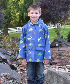 Look at this Foxfire Blue Dinosaurs Raincoat - Infant, Toddler & Boys on #zulily today!