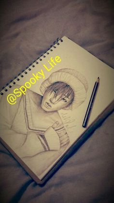 My friend's drawing of zico from Block B done by : @Spooky Life ,she is so talented