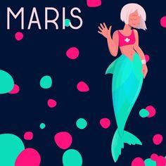 """Grace on Instagram: """"9. Maris #mermay2019 #mermaid #wacommermay2019 #mermay #vectorillustration #sirens #rescuesirens #maris #fanartmermay #fanart #digitalart…"""" Instagram 9, Sirens, Digital Art, Fanart, Mermaid, Mermaids, Fan Art"""