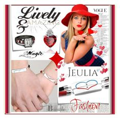 """""""Jeulia Jewelry"""" by lip-balm ❤ liked on Polyvore featuring Post-It, women's clothing, women's fashion, women, female, woman, misses, juniors and jeulia"""