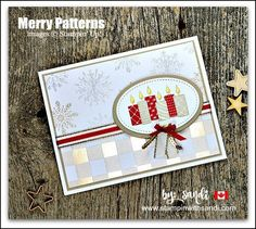Cards are created with the Merry Patterns Stamp Set from Stampin Up by Sandi Maciver of StampinWithSandi.com. This set is an exclusive special offered by Stampin Up which ends Oct 31st so you only have 4 days left. #merrypatternsstampset, #stampinup, #stampinwithsandi #sandimaciver #stampinupcardideas, #holiday card ideas