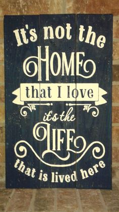 Home Life Sign by PRWoodenCrafts on Etsy