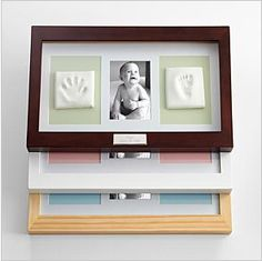 First Mothers Day Handprint Picture Frame - classy way to preserve the baby's footprints and handprints.