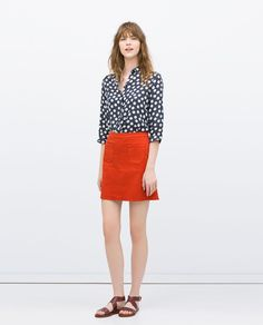 Image 1 of SKIRT WITH FRONT POCKETS from Zara