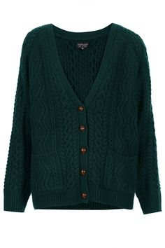 Knitted Cable Cardi - Cardigans - Knitwear - Clothing- Topshop