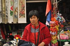 Street Vendor In China: This is a picture I took in Beijing. This is a Street vendor at the foot of Great Wall of China