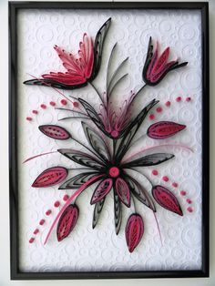 Tableau noir et rose