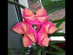 Easy Kusudama tutorial (lotus flower). Christmas ornament - YouTube