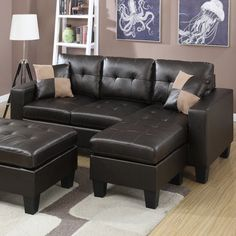 Brown Leather Sectional Sofa And Ottoman Steal A Sofa Furniture intended for dimensions 1200 X 800 Leather Sectional Sofa With Ottoman - Sectional Sofas Sectional Sleeper Sofa, Leather Sectional Sofas, Modern Sectional, Leather Sofa, Couches, Living Room Furniture Online, Corner Couch, Diy Sofa, Furniture Design