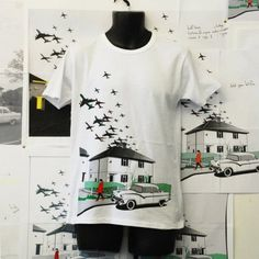 clever clever t-shirt graphics from Plane Clothing - a reflection on modern living and the flight path