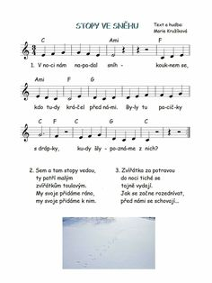 Kids Songs, Sheet Music, Kindergarten, Preschool, Winter, How To Make, Ideas, Book, Winter Time