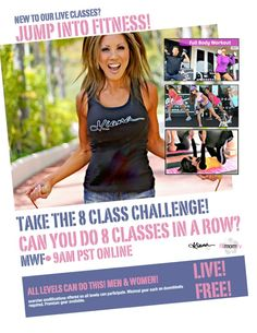 Can you keep up?  Mom's are losing an average of 10 pounds in only eight classes! Join me online for live fitness classes it's free! Read more at www.FitMomTV.com.