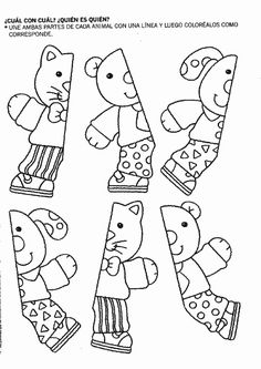 Actividades para niños preescolar, primaria e inicial. Relacionar y Pintar 47 Preschool At Home, Free Preschool, Preschool Printables, Preschool Worksheets, Preschool Learning, Classroom Activities, Preschool Activities, Teaching Kids, Early Learning