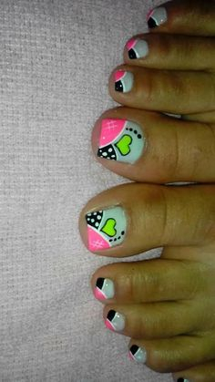 Pedicure Designs, Pedicure Nail Art, Toe Nail Designs, Nail Polish Designs, Toe Nail Art, Pretty Toe Nails, Cute Toe Nails, Cute Acrylic Nails, Love Nails