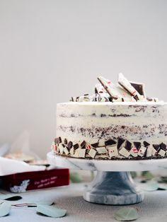 Peppermint Bark Chocolate Cake Recipe #barkyeah — Fix Feast Flair
