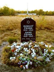 Anne Frank Photo: The grave of her and Margot
