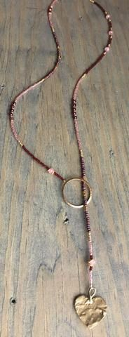Beaded Lariat Necklace Sonia 20-24""